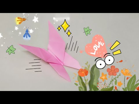 DIY Paper Origami - How to make butterfly origami easy 🦋