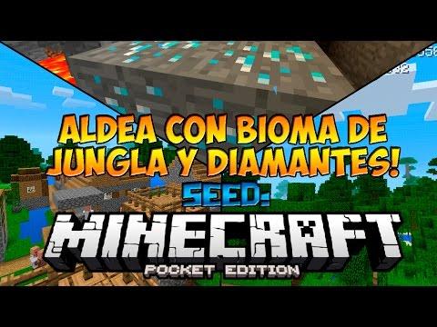 Seeds Para Minecraft PE 0.12.0, 0.12.1: Seed Con Aldeas, Bioma de Jungla y Diamantes!!