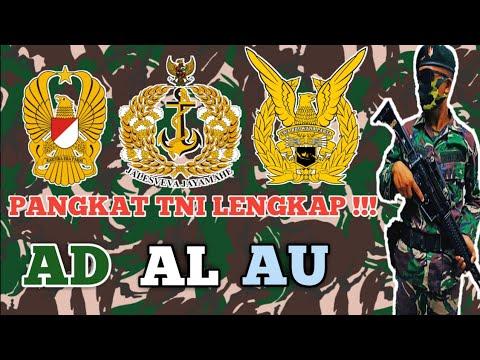 Download TANDA KEPANGKATAN TNI AD AL AU LENGKAP BESERTA PENJELASANNYA