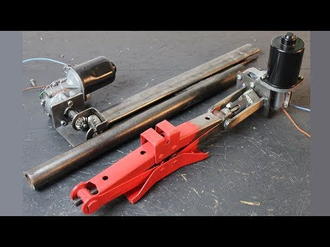 Build Powerful Linear Actuators from Windshield Wiper Motors and Car Jacks