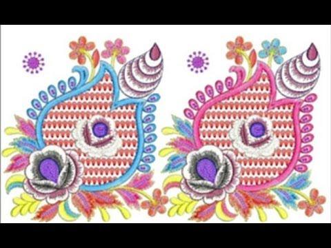 1575P Latest Punjabi Salwar Suits Embroidery Designs