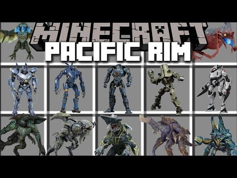 Minecraft PACIFIC RIM MOD / UPRISING OF THE KAIJU SURVIVE THE BATTLE!! Minecraft