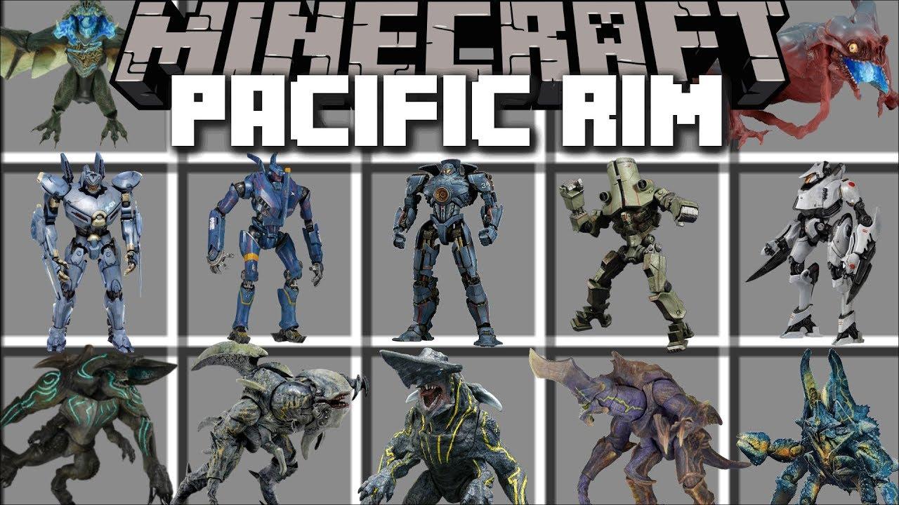 Download Minecraft PACIFIC RIM MOD / UPRISING OF THE KAIJU SURVIVE THE BATTLE!! Minecraft