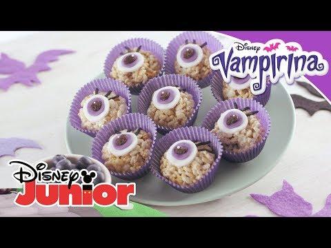 Vampirina Rezept: Vampirinas Puffreis-Augen   Disney Junior