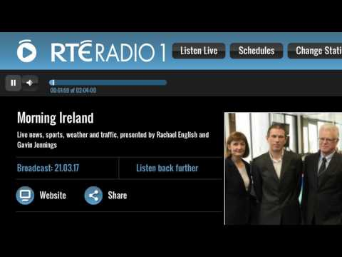Martin McGuinness has died - RTÉ Radio 1 News, 7am, 21st March 2017