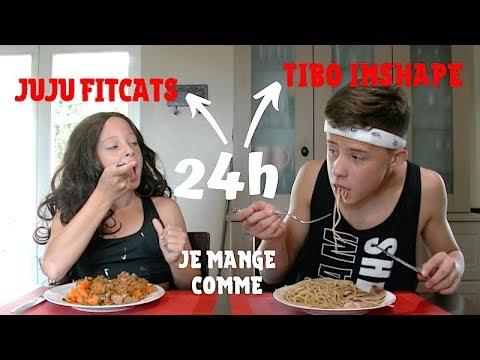 24h On mange comme Tibo InSape et JujuFitcats !