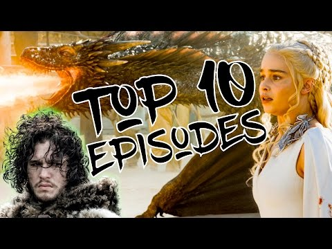 TOP 10 GAME OF THRONES EPISODES! (Seasons 1-6 Ranked!)