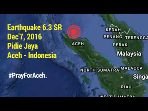 Aceh Earthquake, 6.3 SR : Pidie Jaya, Aceh, Indonesia.