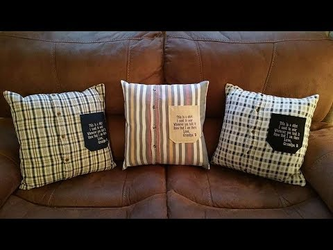 How to make cushions out of old shirts