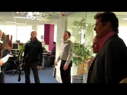 The Hoff visits the Nottingham Post