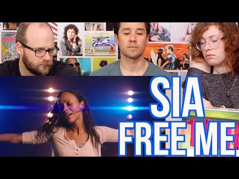 SIA -FREE ME - REACTION - Zoe Saldana
