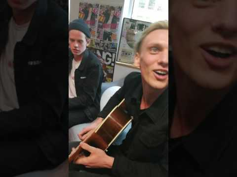 Counterfeit at the Keerang Office acoustic songs + Q and A with lucky fans