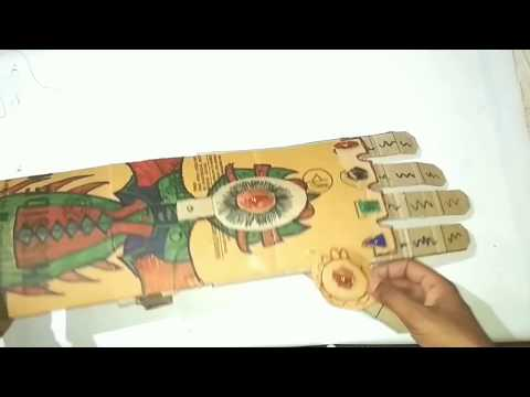 How to make a mechanical hand || Infinity gauntlet || Avengers theme || Rudra DIY Crafts