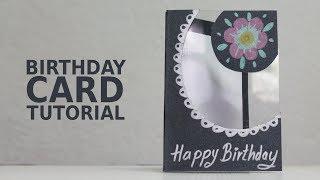 Beautiful handmade birthday card - Paper Craft Tutorial