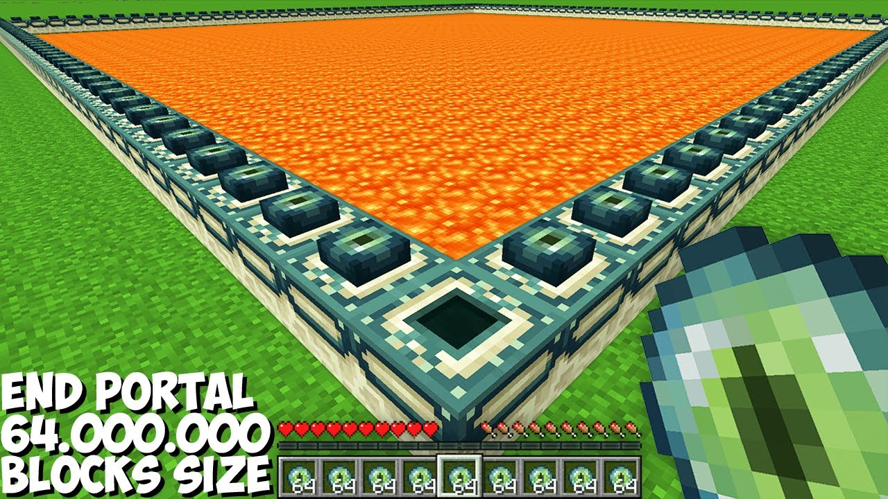 Download I ACTIVATED BIGGEST END PORTAL 64,000,000 BLOCKS SIZE in Minecraft !!!