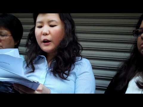 OCA-NY Pvt. Danny Chen Press Briefing, Birthday Card, Nydia Velazquez