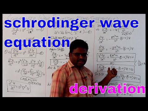 schrodinger wave equation derivation time independent    engineering physics   