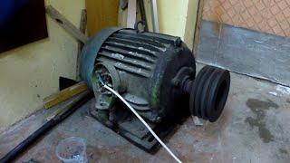 Тест двигателей 4 кВт от частотника на 2 2 кВт