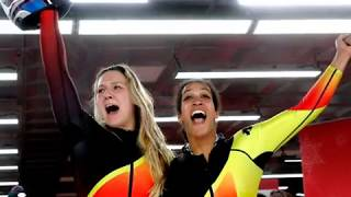 Golden girls , Mariama Jamanka and  Lisa Marie Buckwitz win gold medal at Ladies Bobsleigh