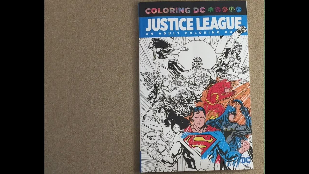 Justice League Coloring Dc Flip Through