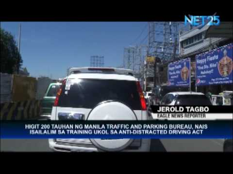 Manila Traffic and Parking Bureau to undergo training on Anti-Distracted Driving Act