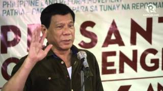 Duterte explains his land reform policy to farmers