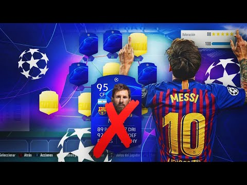 LIONEL MESSI CHAMPIONS LEAGUE DISCARD CHALLENGE!! | FIFA 19
