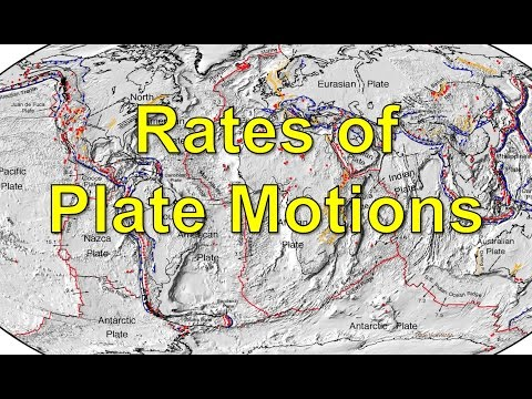 Rates of Plate Motions