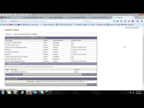 Ironport Feature Key Activation - Cisco Web Security