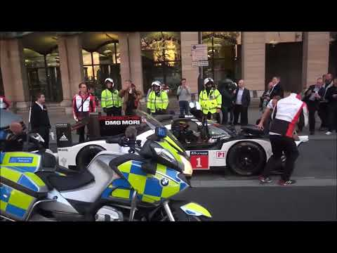 Mark Webber Driving Porsche 919 Le Mans On The Road In London! Driving Past Big Ben