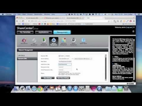 DLink DNS-320 Dynamic DNS Setup