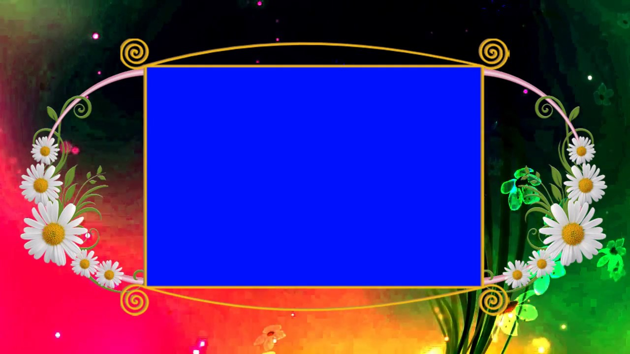 Blue Background Animated Wedding Frame Video - YouTube