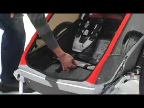 remorque de v lo biplace chariot cougar 2 avec suspension. Black Bedroom Furniture Sets. Home Design Ideas