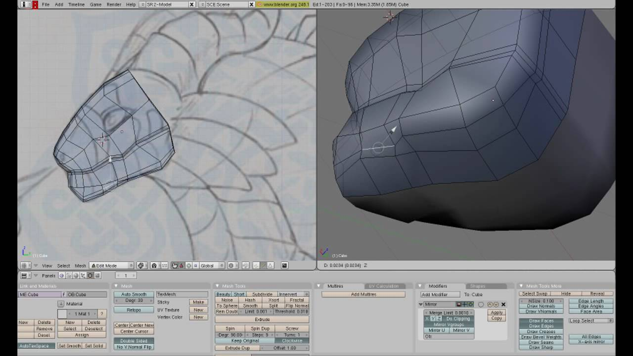 How To Make A Dragon In Blender 3d Part 2