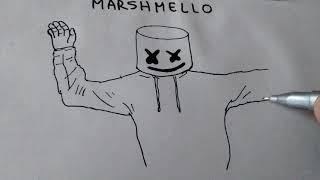 Cómo DIBUJAR y PINTAR MARSHMELLO /how to DRAW and PAINT MARSHMELLO