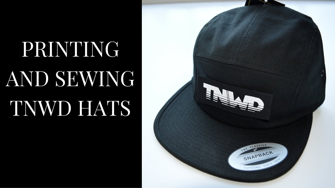 Printing And Sewing A Patch To A Hat b55695bf960