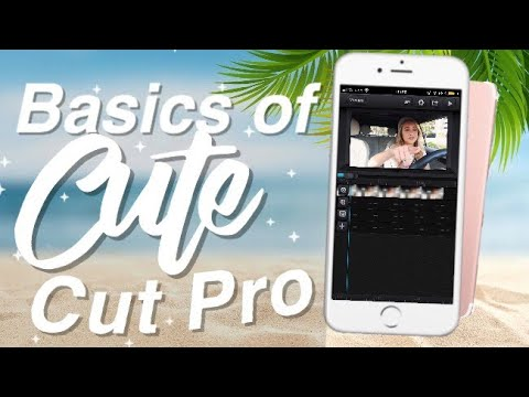 How to EDIT LIKE A PRO ON CUTE CUT PRO // Basics of Cute Cut Pro