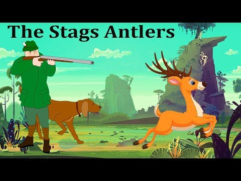 The Stags Antlers English Stories For Kids   The Stag Antlers English Cartoon Moral Stories For Kids