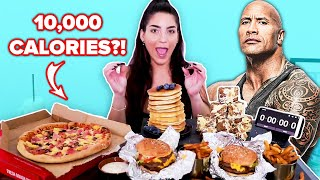 Can This Competitive Eater Finish The Rock's Cheat Day Meals In 45 Minutes?