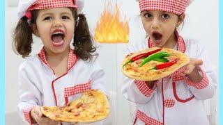 تحدي البيتزا بعجلة الحظ مع سوار وماسة