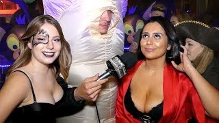 Party sexy interracial milf with Halloween