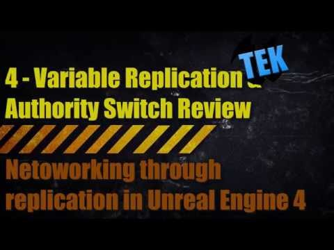 Unreal Engine 4 Networking - 4 - Variable Replication Health Example And Review
