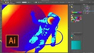 Illustrator CC Sneak Peek: Diffusion Gradients   Adobe Creative Cloud