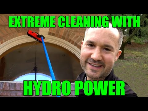 Extreme Window Cleaning Tools | Gardiner 25ft. Water Fed Pole W Hydro Power For New Small Businesses