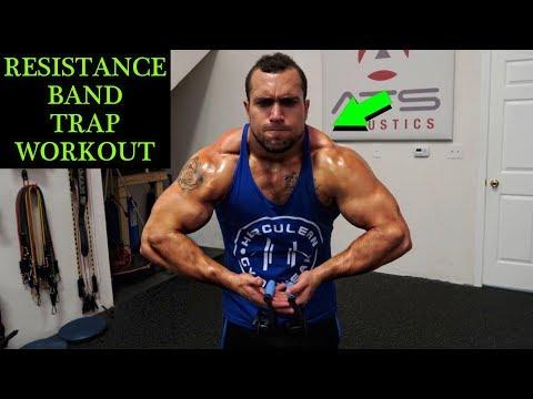 Intense 5 Minute Resistance Band Trap Workout