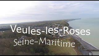 Veules-les-Roses vue du ciel, Seine-Maritime