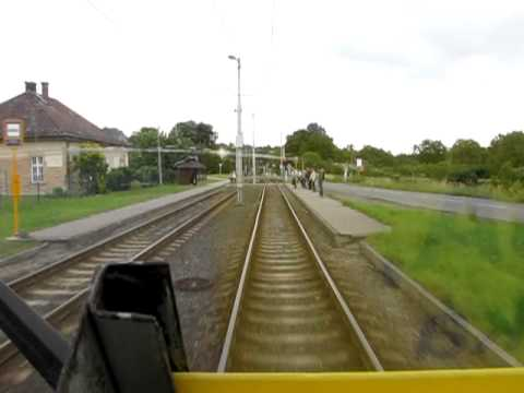 The intercity tram 5 in Ostrava (cab view)  - 1/2