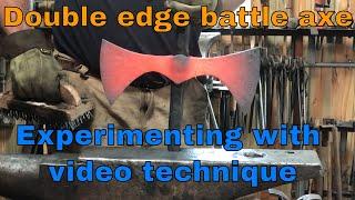 Double edge Viking inspired battle axe