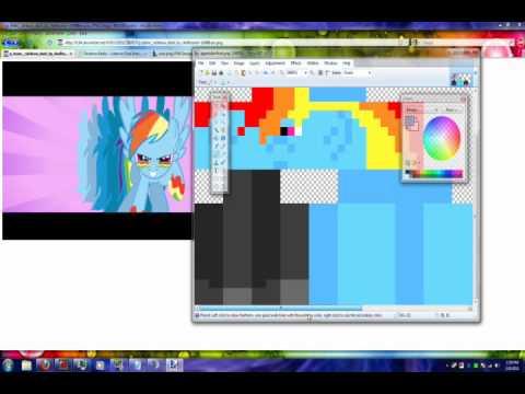 Minecraft - Rainbow Dash Skin