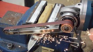 Fingerschleifer bauen | Winkelschleifer Hack | Anleitung Metallprojekt DIY | langes Video